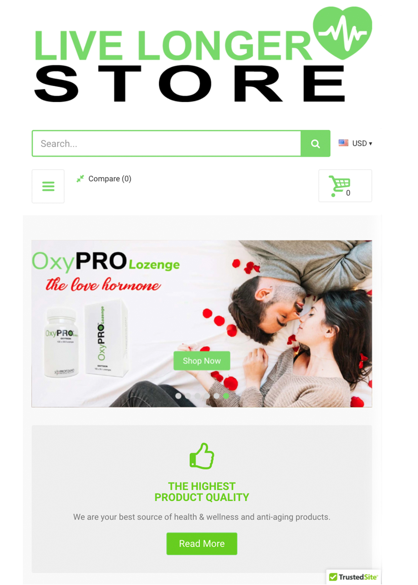 livelongerstore website